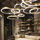 China 36 Watt Silver Integrated Domestic LED Lighting Circular Chandelier 24 In Dia.30/50/60/80/100cm company